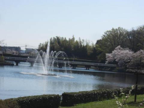 城山池・噴水2.JPG