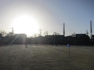朝日とゴルフ.JPG